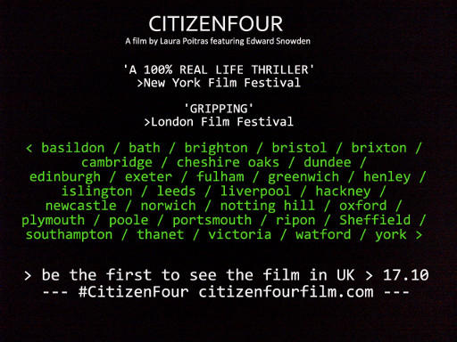 CITIZENFOUR - UK cinema listings